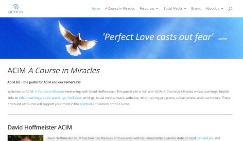 ACIM Portal Website Screenshot