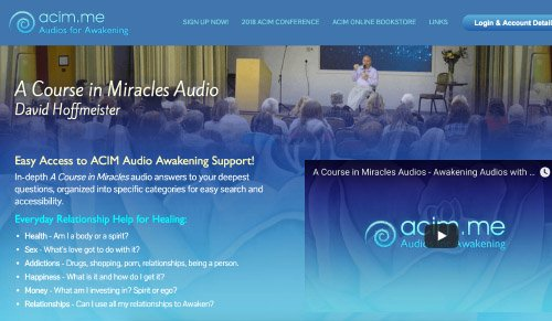 ACIM Audios Website Screenshot