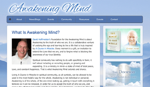 Awakening Mind Website Screenshot